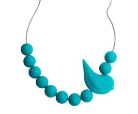 JellyStone Songbird Teething Necklace Turquoise